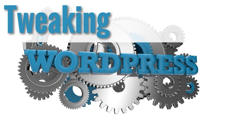 Tweaking Wordpress