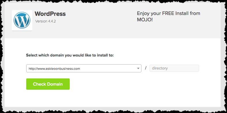 Wordpress install domain selection