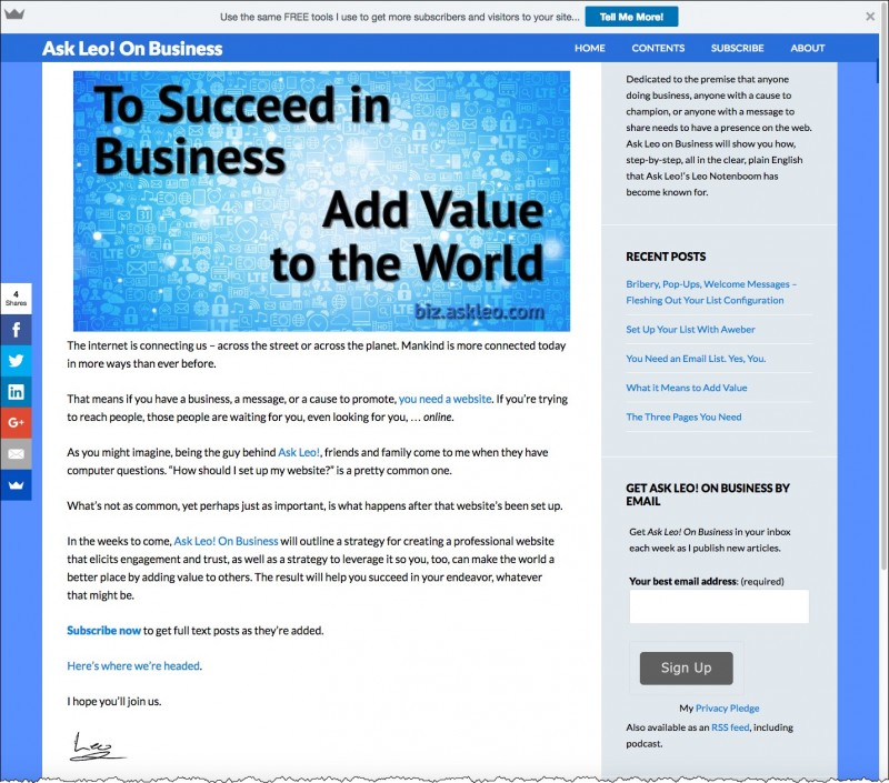 Ask Leo! On Business Home Page