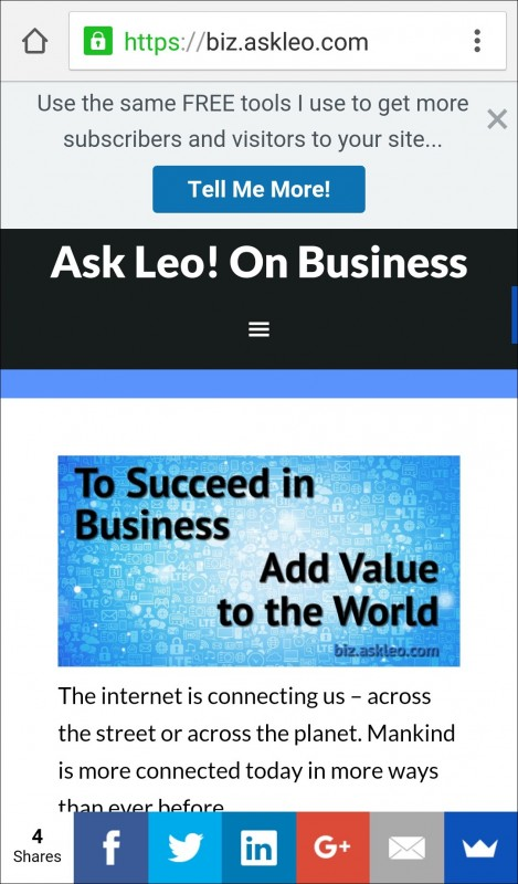 Ask Leo! On Business Homepage