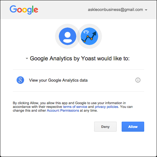 Google Analytics Authorization