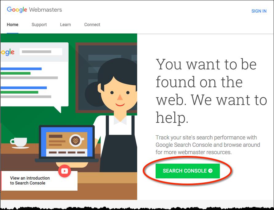 Google Webmaster Tools Portal