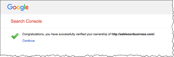 Search Console - Verified