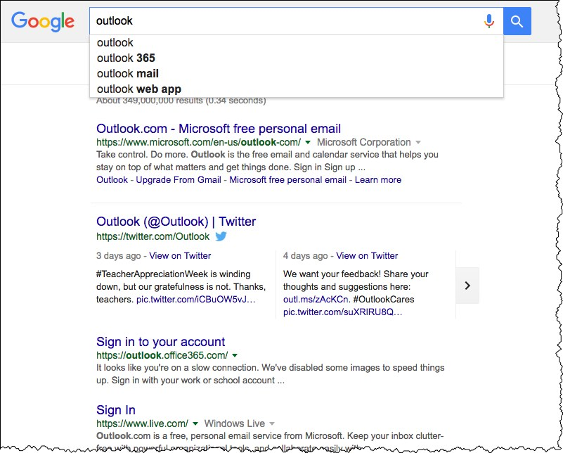 Google auto-complete and real-time search results