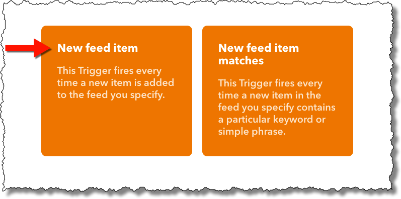 IFTTT: Feed Options