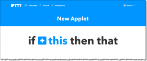 IFTTT: New Applet