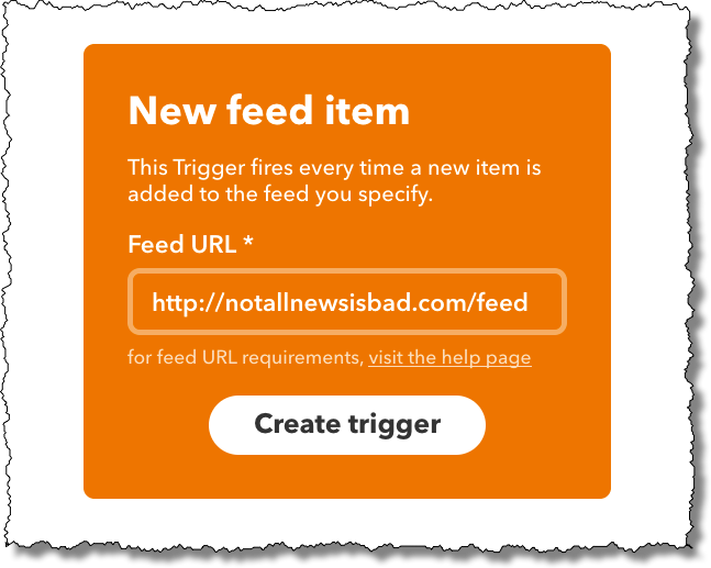 New feed item